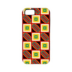 Squares And Rectangles Pattern                                                                                         			apple Iphone 5 Classic Hardshell Case (pc+silicone) by LalyLauraFLM