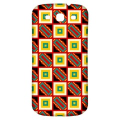 Squares And Rectangles Pattern                                                                                         			samsung Galaxy S3 S Iii Classic Hardshell Back Case by LalyLauraFLM