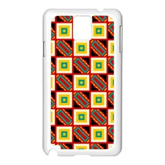 Squares And Rectangles Pattern                                                                                         samsung Galaxy Note 3 N9005 Case (white) by LalyLauraFLM