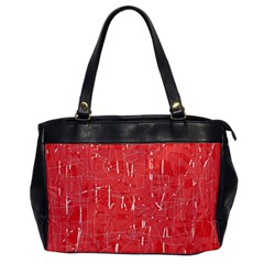Red Pattern Office Handbags by Valentinaart