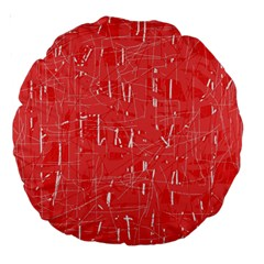 Red Pattern Large 18  Premium Round Cushions by Valentinaart