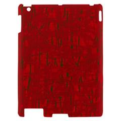 Red pattern Apple iPad 2 Hardshell Case by Valentinaart