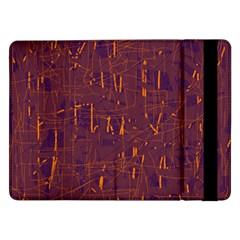 Purple Pattern Samsung Galaxy Tab Pro 12 2  Flip Case by Valentinaart