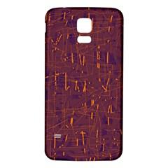 Purple pattern Samsung Galaxy S5 Back Case (White) by Valentinaart