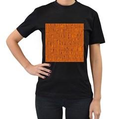 Orange Pattern Women s T Shirt (black) by Valentinaart