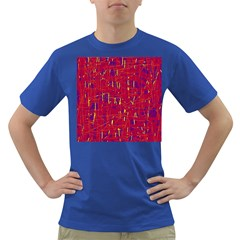 Red and blue pattern Dark T-Shirt