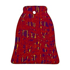 Red And Blue Pattern Bell Ornament (2 Sides) by Valentinaart