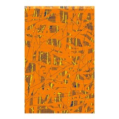 Orange pattern Shower Curtain 48  x 72  (Small)  by Valentinaart