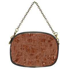 Brown Pattern Chain Purses (two Sides)  by Valentinaart