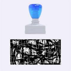 Blue pattern Rubber Stamps (Medium)  by Valentinaart