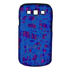 Deep blue pattern Samsung Galaxy S III Classic Hardshell Case (PC+Silicone)