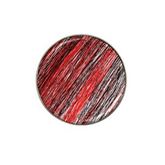 Red And Black Elegant Pattern Hat Clip Ball Marker by Valentinaart