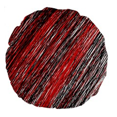 Red And Black Elegant Pattern Large 18  Premium Round Cushions by Valentinaart