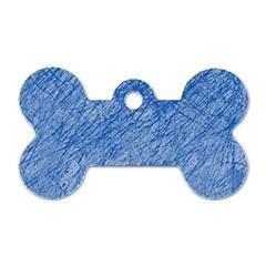 Blue pattern Dog Tag Bone (One Side) by Valentinaart