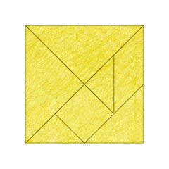 Yellow Pattern Acrylic Tangram Puzzle (4  X 4 ) by Valentinaart
