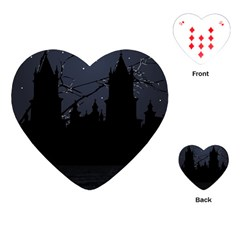 Dark Scene Illustration Playing Cards (heart)  by dflcprints