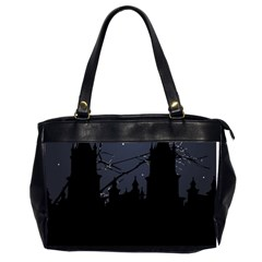 Dark Scene Illustration Office Handbags (2 Sides)  by dflcprints