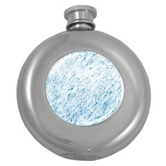 Blue Pattern Round Hip Flask (5 Oz) by Valentinaart