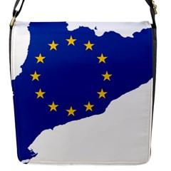 Catalonia European Union Flag Map  Flap Messenger Bag (S) by abbeyz71