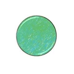 Green Pattern Hat Clip Ball Marker by Valentinaart