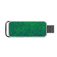 Deep Green Pattern Portable Usb Flash (two Sides) by Valentinaart