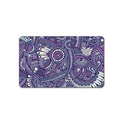Purple Hippie Flowers Pattern, Zz0102, Magnet (name Card) by Zandiepants