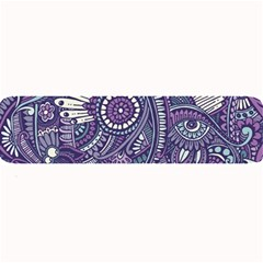 Purple Hippie Flowers Pattern, Zz0102, Large Bar Mat by Zandiepants