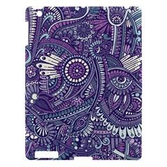Purple Hippie Flowers Pattern, Zz0102, Apple Ipad 3/4 Hardshell Case by Zandiepants