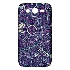 Purple Hippie Flowers Pattern, Zz0102, Samsung Galaxy Mega 5 8 I9152 Hardshell Case  by Zandiepants