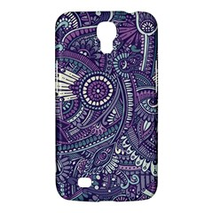 Purple Hippie Flowers Pattern, Zz0102, Samsung Galaxy Mega 6 3  I9200 Hardshell Case by Zandiepants