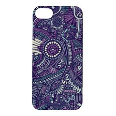 Purple Hippie Flowers Pattern, Zz0102, Apple Iphone 5s/ Se Hardshell Case by Zandiepants
