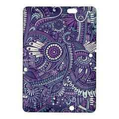 Purple Hippie Flowers Pattern, Zz0102, Kindle Fire Hdx 8 9  Hardshell Case by Zandiepants