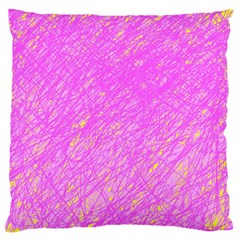 Pink Pattern Large Flano Cushion Case (one Side) by Valentinaart