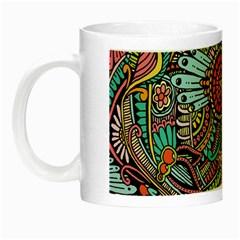 Colorful Hippie Flowers Pattern, Zz0103 Night Luminous Mug by Zandiepants