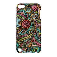 Colorful Hippie Flowers Pattern, Zz0103 Apple Ipod Touch 5 Hardshell Case by Zandiepants
