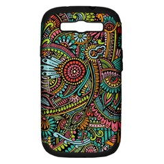 Colorful Hippie Flowers Pattern, Zz0103 Samsung Galaxy S Iii Hardshell Case (pc+silicone) by Zandiepants