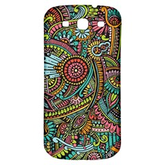 Colorful Hippie Flowers Pattern, Zz0103 Samsung Galaxy S3 S Iii Classic Hardshell Back Case by Zandiepants