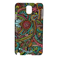 Colorful Hippie Flowers Pattern, Zz0103 Samsung Galaxy Note 3 N9005 Hardshell Case by Zandiepants