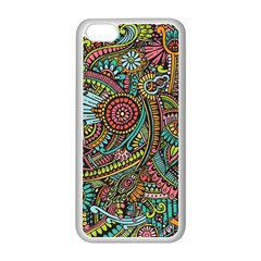 Colorful Hippie Flowers Pattern, Zz0103 Apple Iphone 5c Seamless Case (white) by Zandiepants