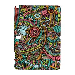 Colorful Hippie Flowers Pattern, zz0103 Samsung Galaxy Note 10.1 (P600) Hardshell Case by Zandiepants