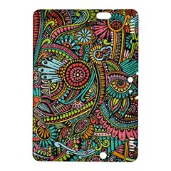 Colorful Hippie Flowers Pattern, Zz0103 Kindle Fire Hdx 8 9  Hardshell Case by Zandiepants