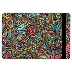 Colorful Hippie Flowers Pattern, Zz0103 Apple Ipad Air 2 Flip Case by Zandiepants