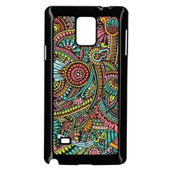Colorful Hippie Flowers Pattern, Zz0103 Samsung Galaxy Note 4 Case (black) by Zandiepants