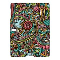 Colorful Hippie Flowers Pattern, Zz0103 Samsung Galaxy Tab S (10 5 ) Hardshell Case  by Zandiepants