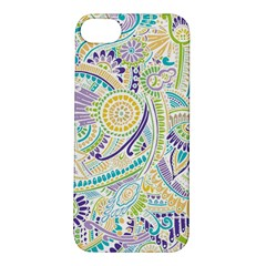 Purple, Green, Yellow Hippie Flowers Pattern, Zz0104, Apple Iphone 5s/ Se Hardshell Case by Zandiepants