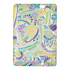 Purple, Green, Yellow Hippie Flowers Pattern, Zz0104, Kindle Fire Hdx 8 9  Hardshell Case by Zandiepants