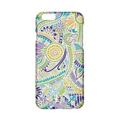 Purple, Green, Yellow Hippie Flowers Pattern, Zz0104, Apple Iphone 6/6s Hardshell Case by Zandiepants