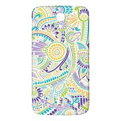 Purple, Green, Yellow Hippie Flowers Pattern, Zz0104, Samsung Galaxy Mega I9200 Hardshell Back Case by Zandiepants