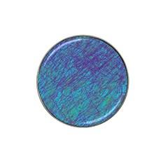 Blue Pattern Hat Clip Ball Marker (4 Pack) by Valentinaart