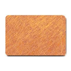 Orange Pattern Small Doormat  by Valentinaart